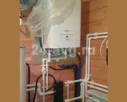 Пример монтажа газового настенного котла при газификации.
